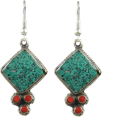 Miska Silver Designer Coral German Silver Dangle Earring at flipkart