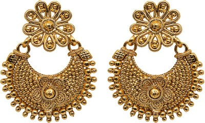 Grand Jewels Floral Alloy Chandbali Earring