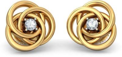 BlueStone The Circled in Unison Yellow Gold 18kt Diamond Stud Earring