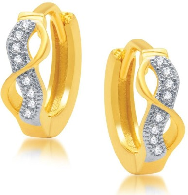 Sukkhi Marquise Micro Pave Cubic Zirconia Alloy Hoop Earring