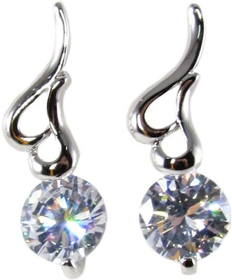 Dolls N Queens Hearts Cubic Zirconia Copper Stud Earring