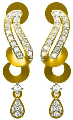 Sakshi Jewels Pura Danglings Diamond Gold Drop Earring