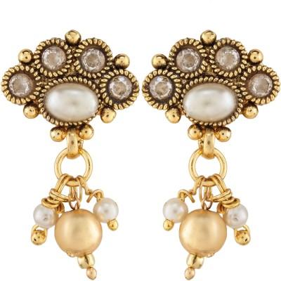 Aashvi Creation Antique Earrings Beads Copper Drop Earring