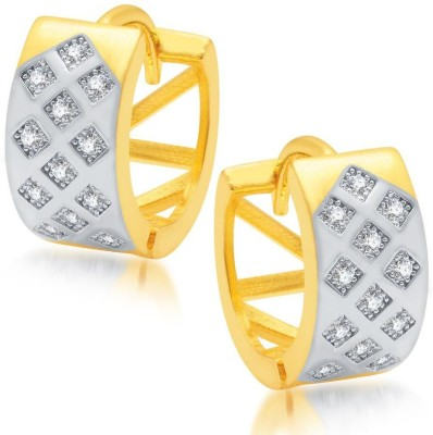 Sukkhi Indian Micro Pave Cubic Zirconia Alloy Hoop Earring