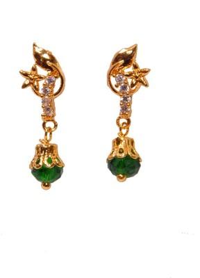 PFJ PFJ3043-EARRING Cubic Zirconia Brass, Copper Drop Earring