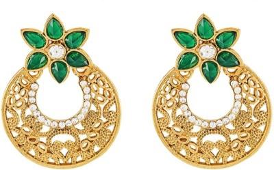 Art Nouveau Partywear Brass Chandelier Earring