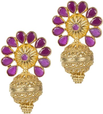 Mehtaphor Tulika_3 Crystal Brass Stud Earring