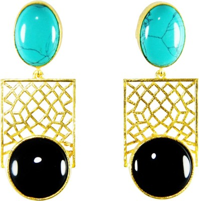 Ltd Edition E-1002 Turquoise Copper, Brass Drop Earring