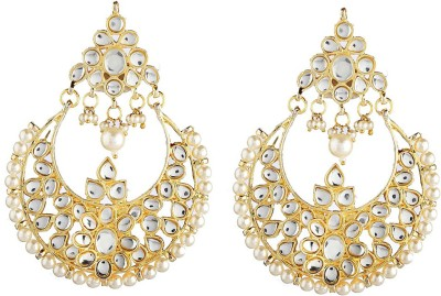 NEnterprises Golden Boonde Alloy Chandbali Earring