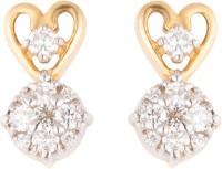 Wite&Gold Sparkle Heart Diamond Yellow Gold Stud Earring best price on Flipkart @ Rs. 31544