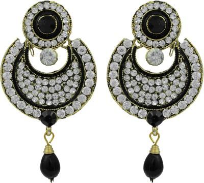 Pankh Polki Design Studded Brass Chandbali Earring