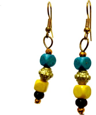 DCS Blue Wood Dangle Earring