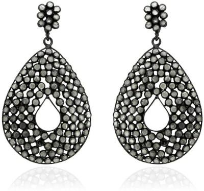 SuvidhaArts Desginer Fashion Cubic Zirconia Brass Drop Earring