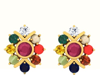 JacknJewel Enchanting Nauratan Yellow Gold 18kt Diamond Stud Earring