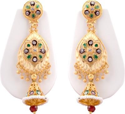 STAR TRADERS FLOWER GOLD Brass Jhumki Earring