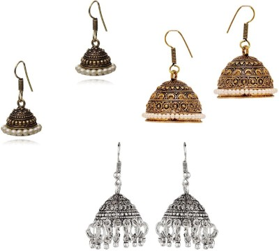 CTW Fusion Antique Combo Pack Alloy Jhumki Earring