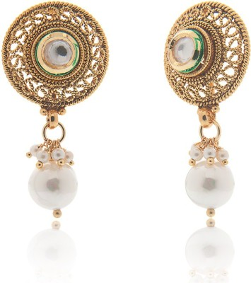 Vama Spring Sparkle Alloy Drop Earring