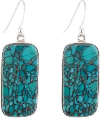 Aarohee Blue Elegance Turquoise Sterling Silver Dangle Earring