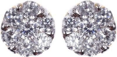 Rays SES222 Cubic Zirconia Copper Stud Earring