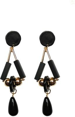 Blingxing Black Hangs Metal, Alloy Drop Earring