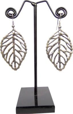 GiftPiper Engraved German Silver Earrings- Leaf Pattern German Silver Earring Set