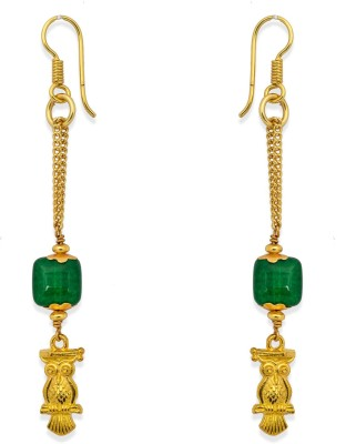Ijuels Fashionable Sparkle Delight Crystal Brass, Alloy Dangle Earring
