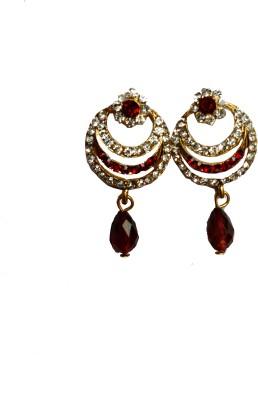 modifier red alloy Crystal Alloy Drop Earring
