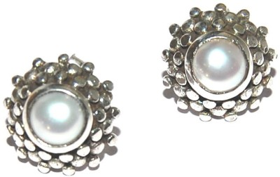Arvino Moonlit Blossoms Pearl Sterling Silver Stud Earring
