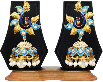 Zaveri Pearls Traditional Peacock Zinc Jhumki Earring
