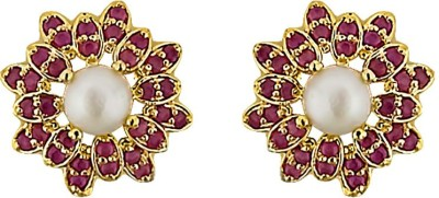 JPearls Amazing Grace Mother of Pearl Alloy Stud Earring