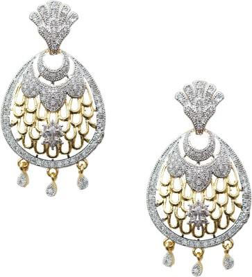 Kenza Designer American Diamond Alloy Chandelier Earring