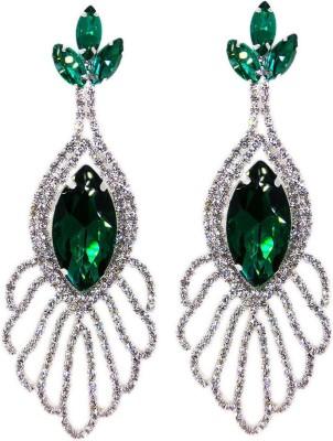 000 Fashions Classy Austrian Crysatl Green Sapphire for Women Alloy Drop Earring
