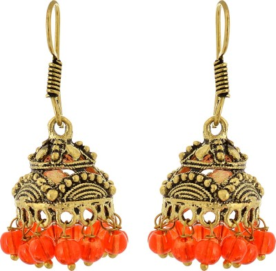Subharpit Little Stylish Beads Metal Jhumki Earring