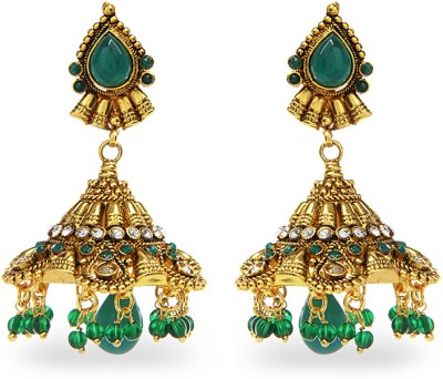 Aamoye Polki Jhumki in High Gold Finish Alloy Jhumki Earring at flipkart