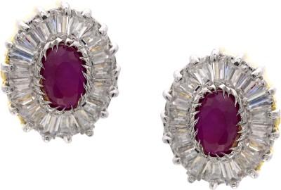 Hyderabad Jewels Beautiful Zircon Silver Stud Earring