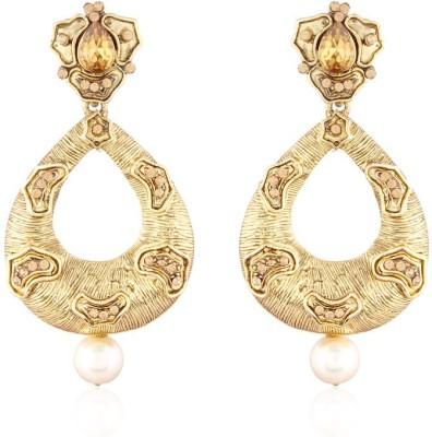 I Jewels Traditional Gold Plated Designar & stone Earrings Alloy Chandbali Earring