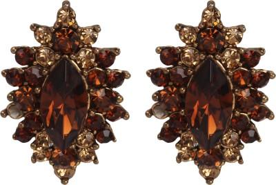 Maisha Dark Red & Gold Star Alloy Stud Earring