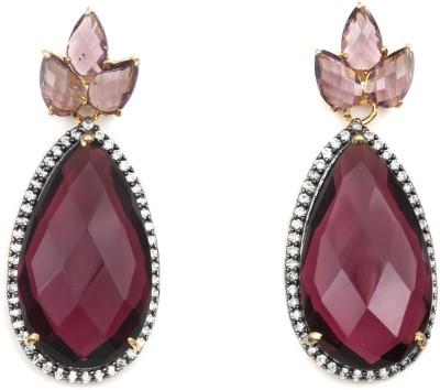 Magiq Trinayani Sparkle Stone, Brass Drop Earring