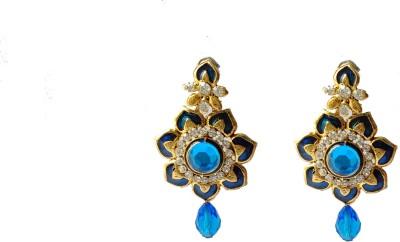 modifier BLUE CHARMING Crystal Alloy Drop Earring