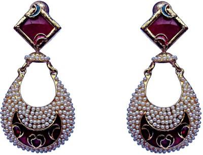 Kundaan Traditional Wear Crystal Copper, Alloy Drop Earring