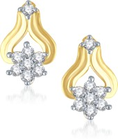 VK Jewels Well Crafted Cubic Zirconia Alloy Stud Earring