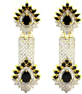 Dilan Jewels Long Love Cubic Zirconia Silver Chandelier Earring