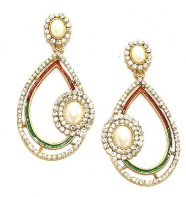 Aarnaa Almond Shape Alloy Drop Earring