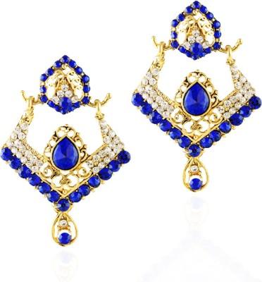 REEVA FASHION JEWELLERY Blue Sapphire Alloy Chandelier Earring