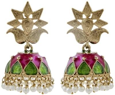 the jewelbox Brass Jhumki Earring
