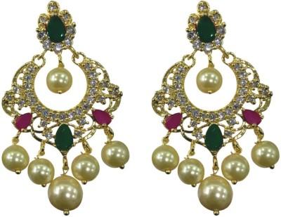Sri Kapi Pearls FE135 Cubic Zirconia Alloy Chandbali Earring