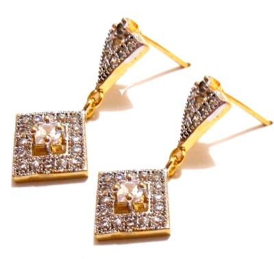 Shubh 4u American diamond Alloy Drop Earring