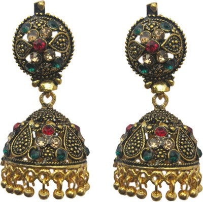 Sankisho Multi Color Nag Metal, Alloy, Glass Jhumki Earring