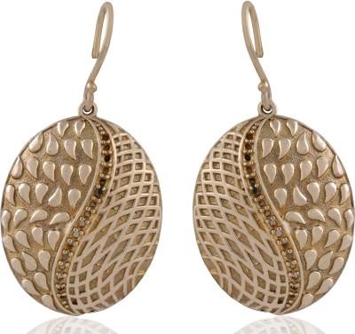 ZeroKaata Clash of the Patterns Brass Dangle Earring