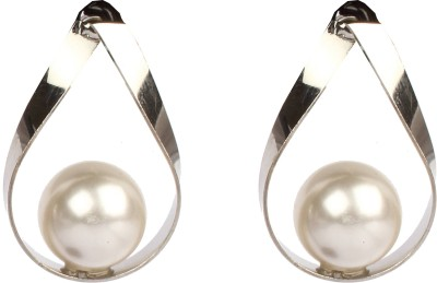 Divitha Allure Divitha Allure pearl with metal teardrops Alloy Drop Earring